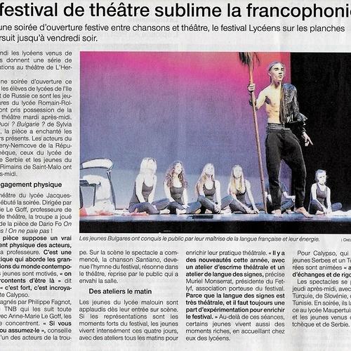 Lycéens sur les planches sublime la francophonie