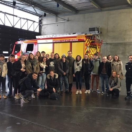 Visite chez les pompiers !