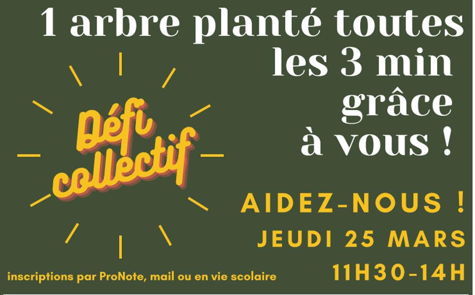 Défi collectif : Action planter des arbres dans le parc 0
